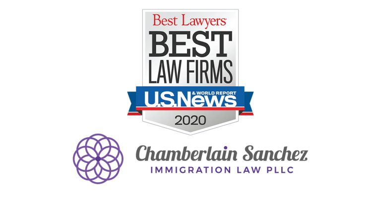 Best Law Firms 2020 – Chamberlain Sanchez Immigration Law